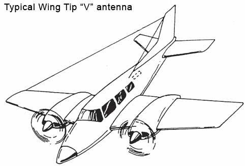 Wing Tip V Antenna